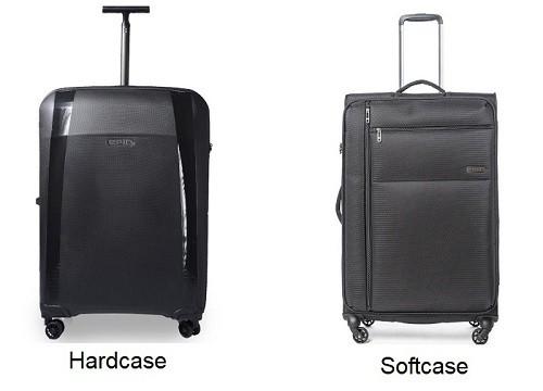 softcase vs hardcase kuffert