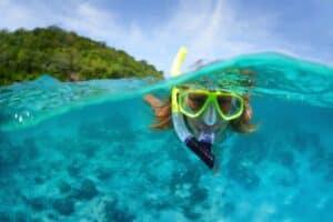 dykkermaske med snorkel