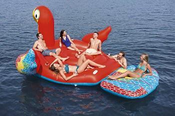 Mega-ø papegøje badedyr til voksne
