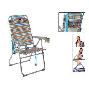 Smart foldbar strandstol med armlæn i flere farver