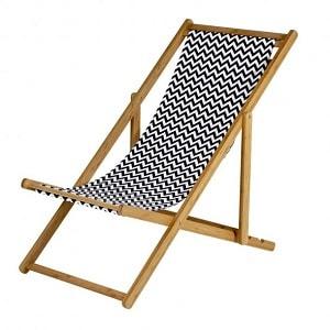 Behagelig strandstol med bambus-stel