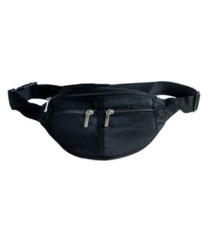 Bæltetaske i sort stof