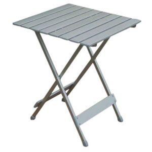 Bord med lamelbordplade (50 x 50 cm)