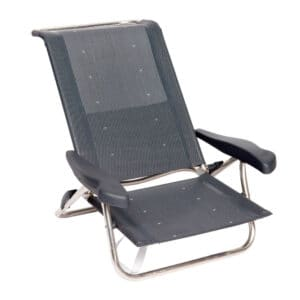 Crespo strandstol AL-222 Mørk grå