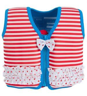 Konfidence Svømmevest - Original - Marthas Red Stripe Frills