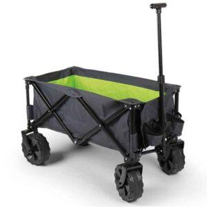 Sammenklappelig trolley med ekstra bredde hjul.