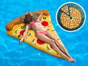 Spralla Gigantisk Pizzaslice Luftmadras